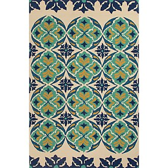 Barcelona Multicolored Indoor/Outdoor 8x10 Area Rug