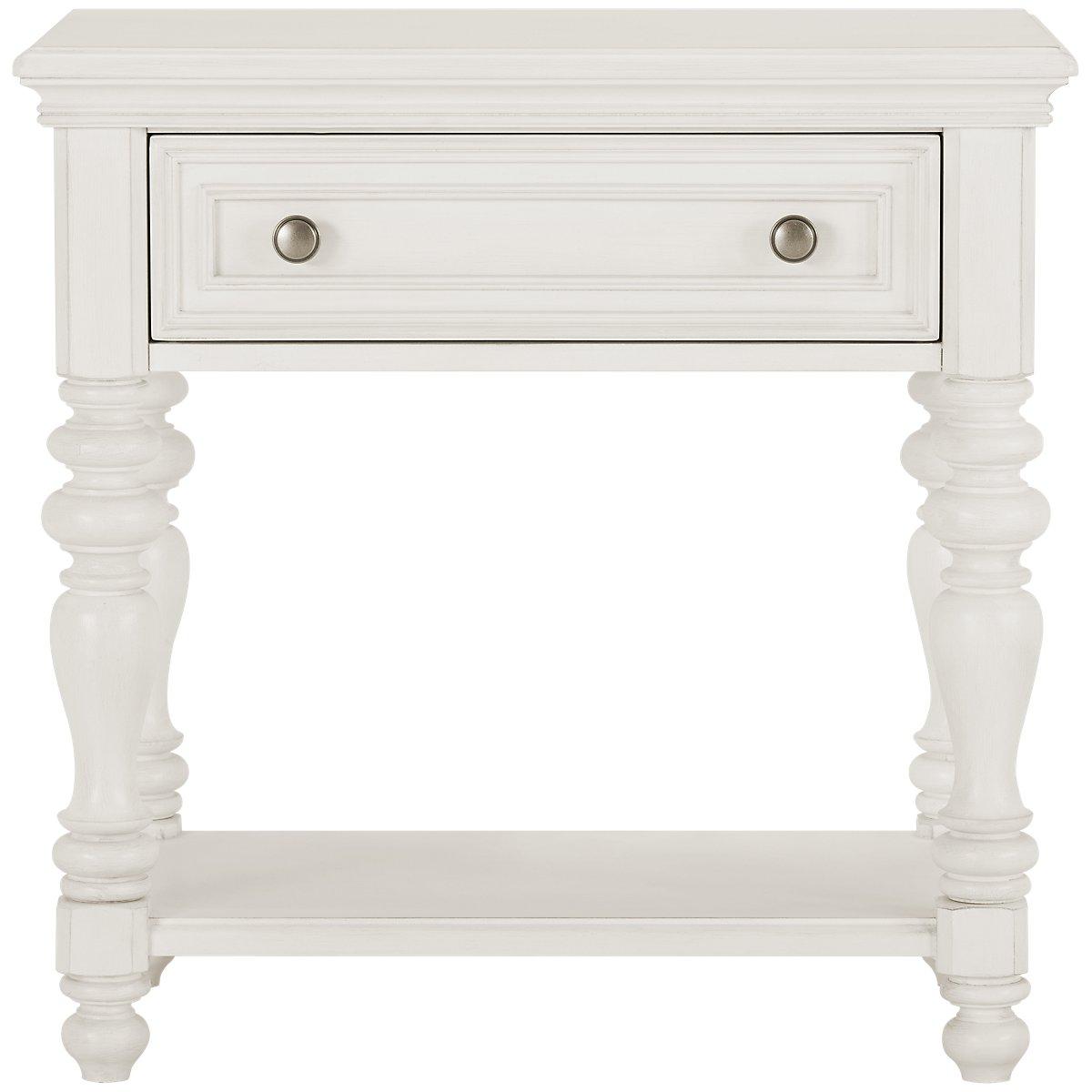 Savannah Ivory Wood 1-drawer Nightstand