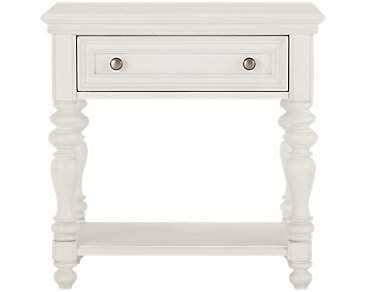 Savannah Ivory 1-Drawer Nightstand