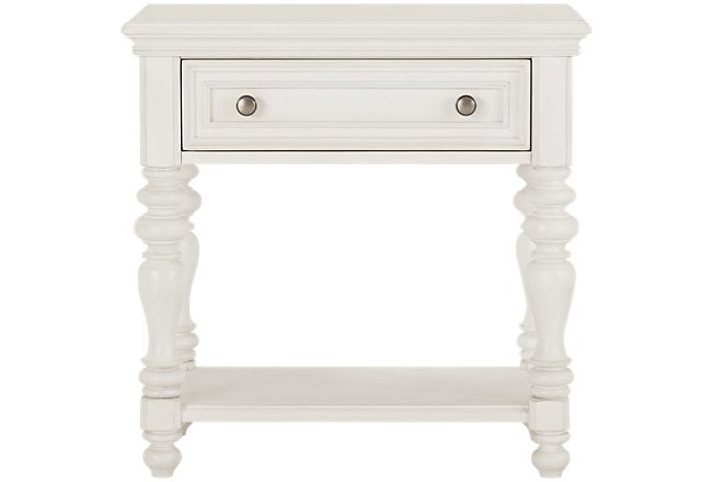 Savannah Ivory Wood 1-drawer Nightstand