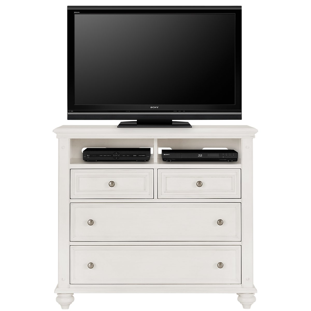 City Furniture: Savannah Ivory Media Chest