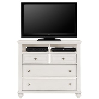 Savannah Ivory Media Chest