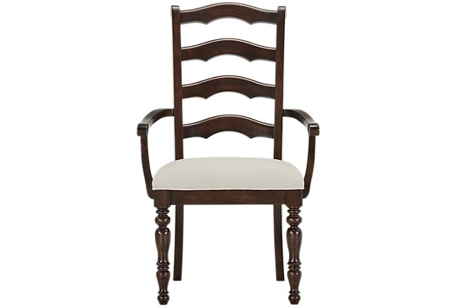 Savannah Dark Tone Wood Wood Arm Chair