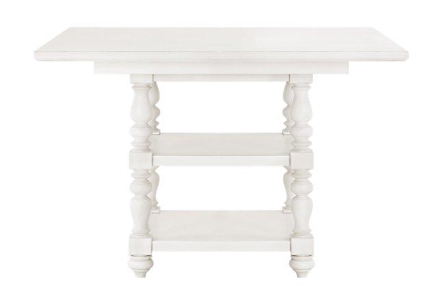 Savannah Ivory Wood High Dining Table