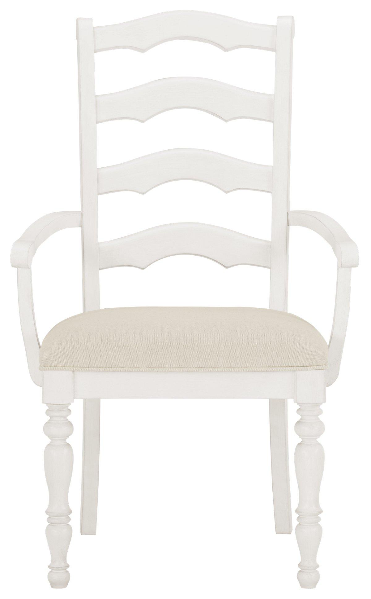 Savannah Ivory Wood Wood Arm Chair