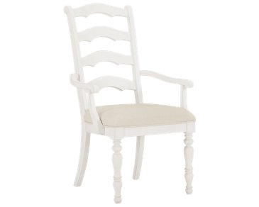 Savannah Ivory Wood Arm Chair
