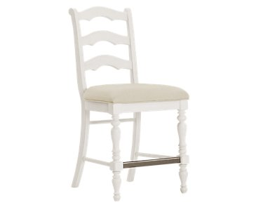 "Savannah Ivory 24"" Wood Barstool"
