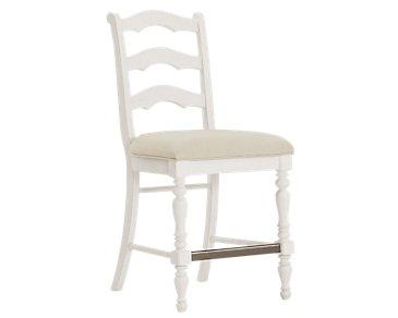 """Savannah Ivory 24"""" Wood Barstool"""