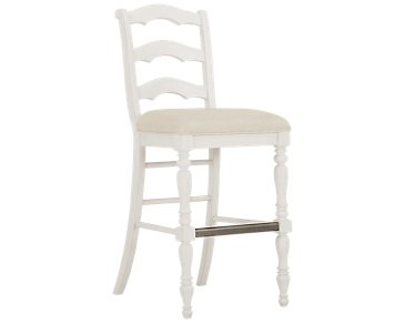 "Savannah Ivory 30"" Wood Barstool"