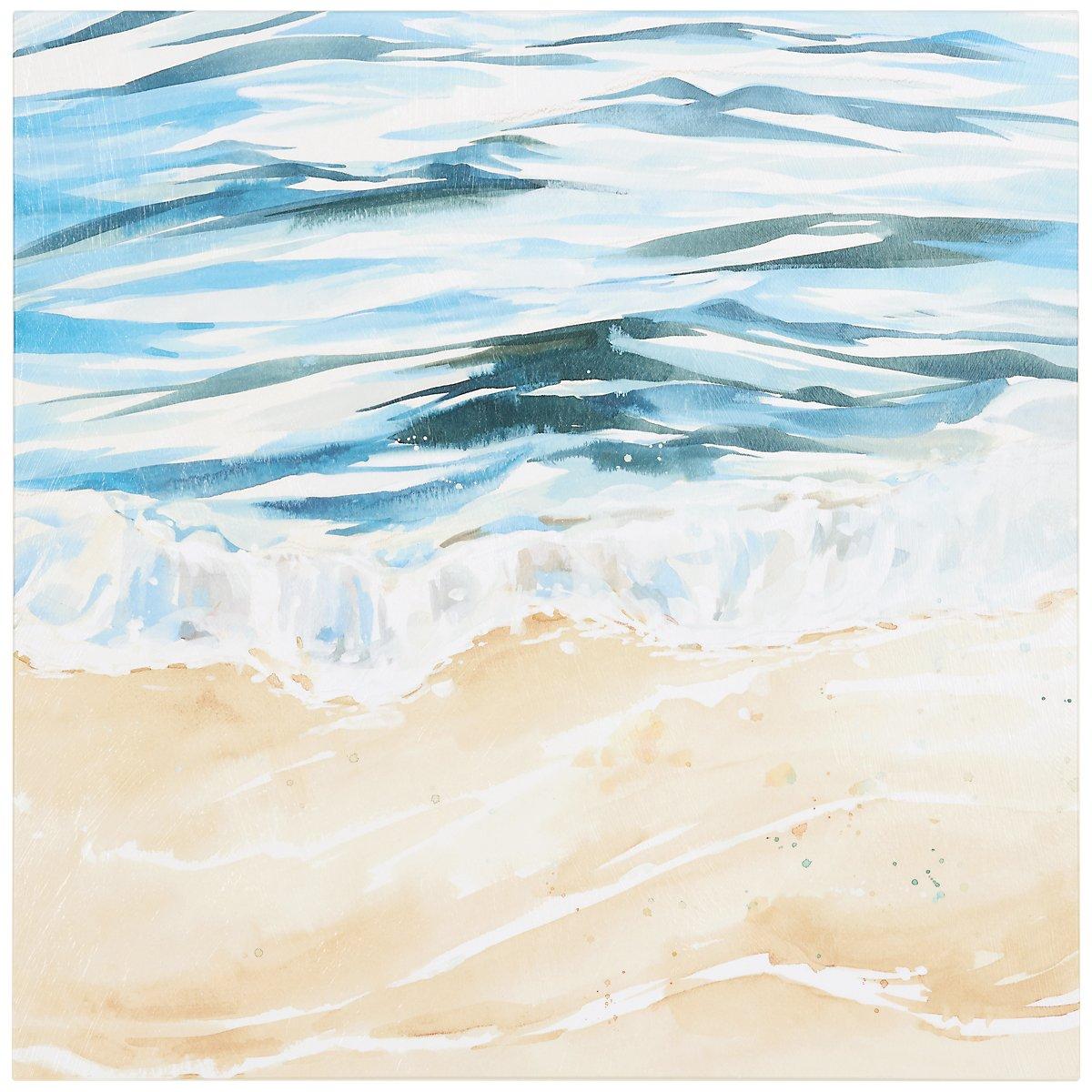 Waves Crash2 Canvas Wall Art