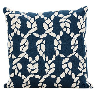 Knots Dark Blue Indoor/Outdoor Accent Pillow