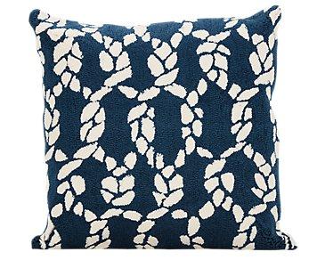 Knots Dark Blue Indoor/Outdoor Accent Pillow