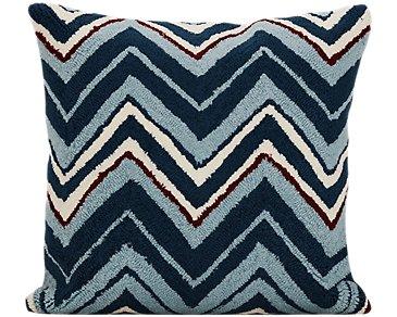 Chevron Blue Indoor/Outdoor Accent Pillow