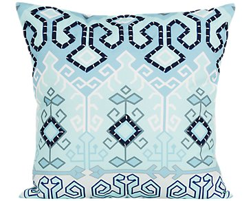 Liana Blue Indoor/Outdoor Accent Pillow
