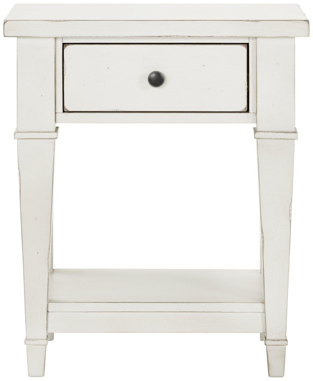 Stoney White 1-drawer Nightstand