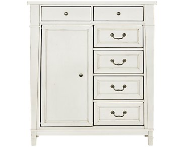 Stoney White Door Chest