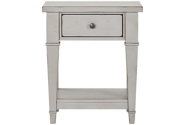 Stoney Gray 1-drawer Nightstand