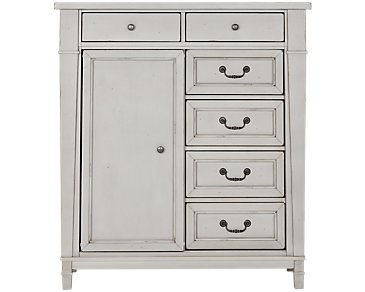 Stoney Gray Door Chest