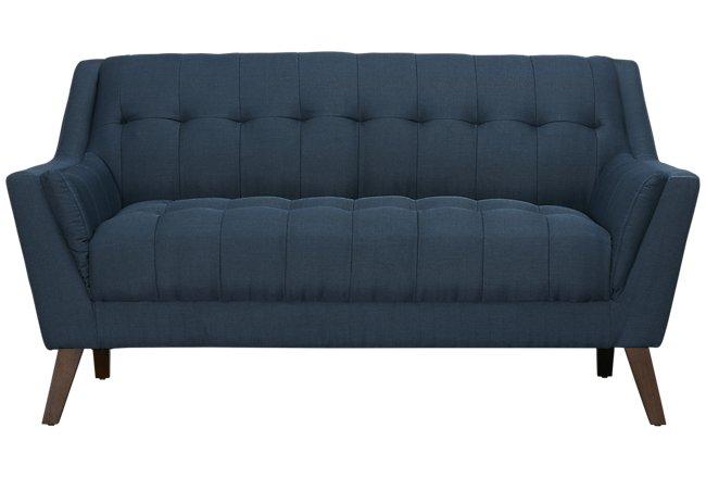 Brentwood Dark Blue Fabric Loveseat