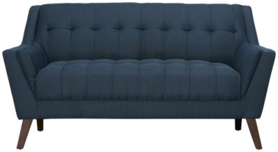 Brentwood Dark Blue Fabric Living Room