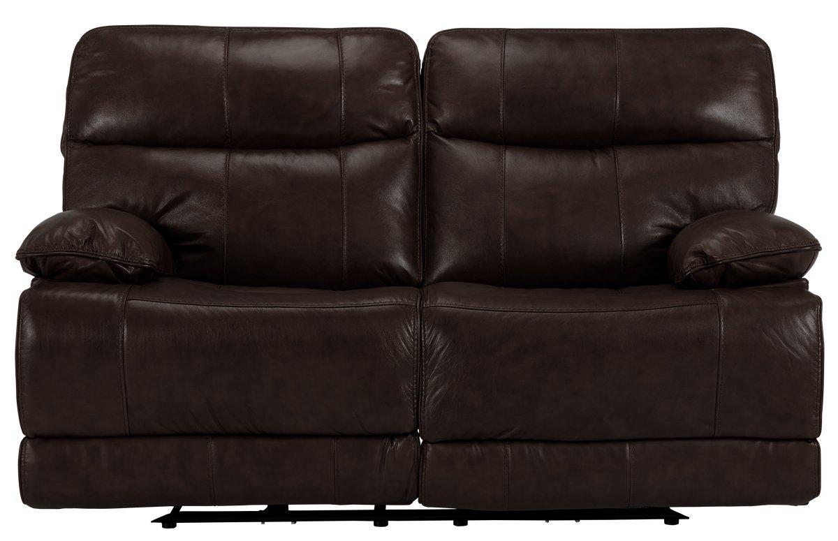 City Furniture Liam Dark Brown Leather Vinyl Reclining Loveseat ~ Dark Brown Sofa And Loveseat