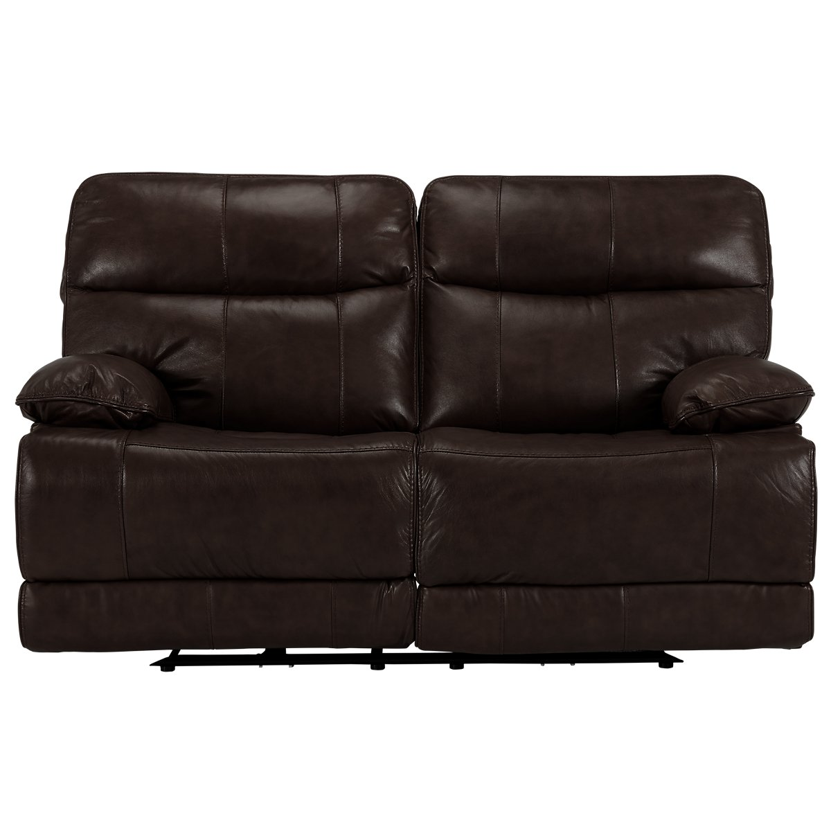 City Furniture Liam Dark Brown Leather Vinyl Reclining Loveseat