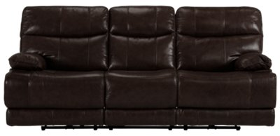 Liam Dark Brown Leather U0026 Vinyl Power Reclining Sofa