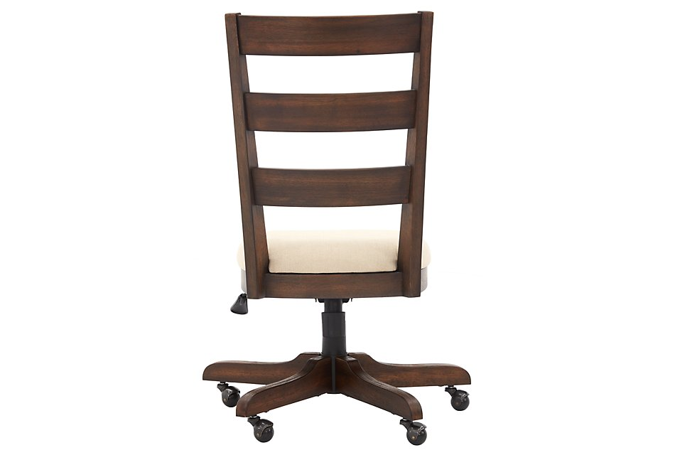 Vista Mid Tone Wood Desk Chair