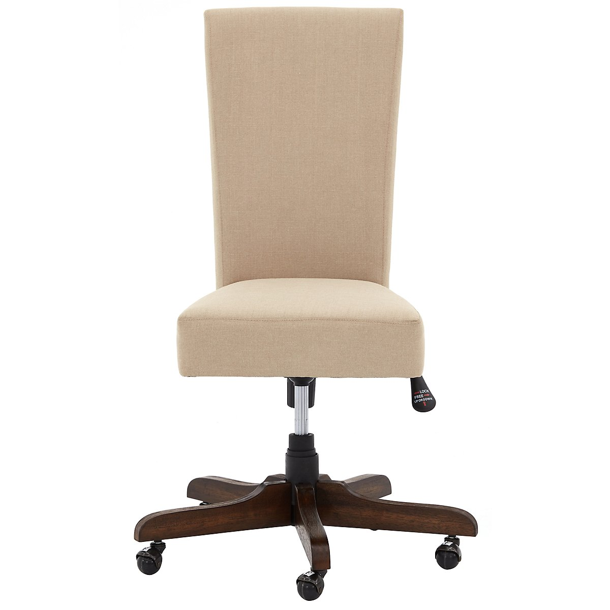 city furniture vista mid tone upholstered desk chair