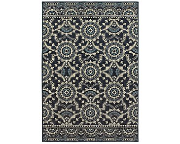 Linden Dark Blue 5X8 Area Rug