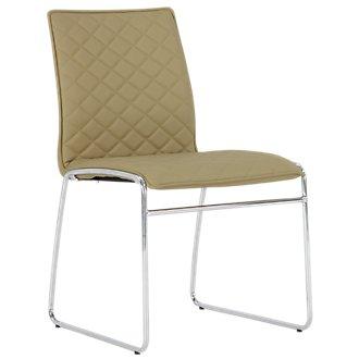 Skyline Light Green Metal Side Chair