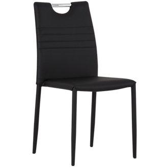 Skyline Black Upholstered Side Chair