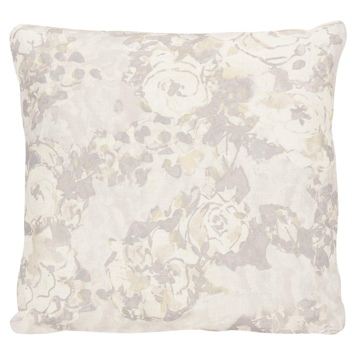 Primrose Gray Fabric Square Accent Pillow