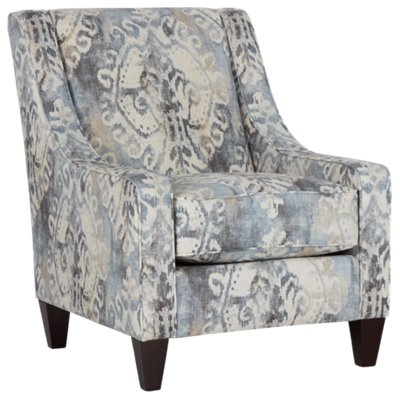 Charmant Soledad Gray Fabric Accent Chair