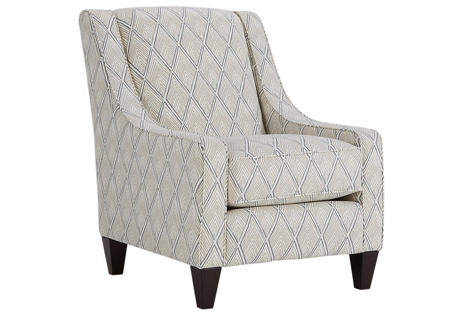 Fantastic Rhombi Light Beige Fabric Accent Chair Home Accents Onthecornerstone Fun Painted Chair Ideas Images Onthecornerstoneorg