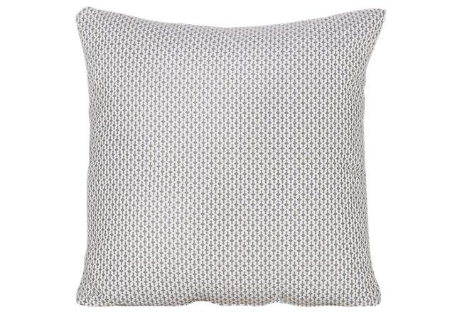 Dash Gray Fabric Square Accent Pillow