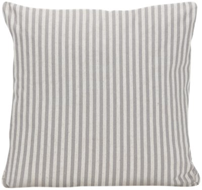 Scout Gray Stripe Square Accent Pillow