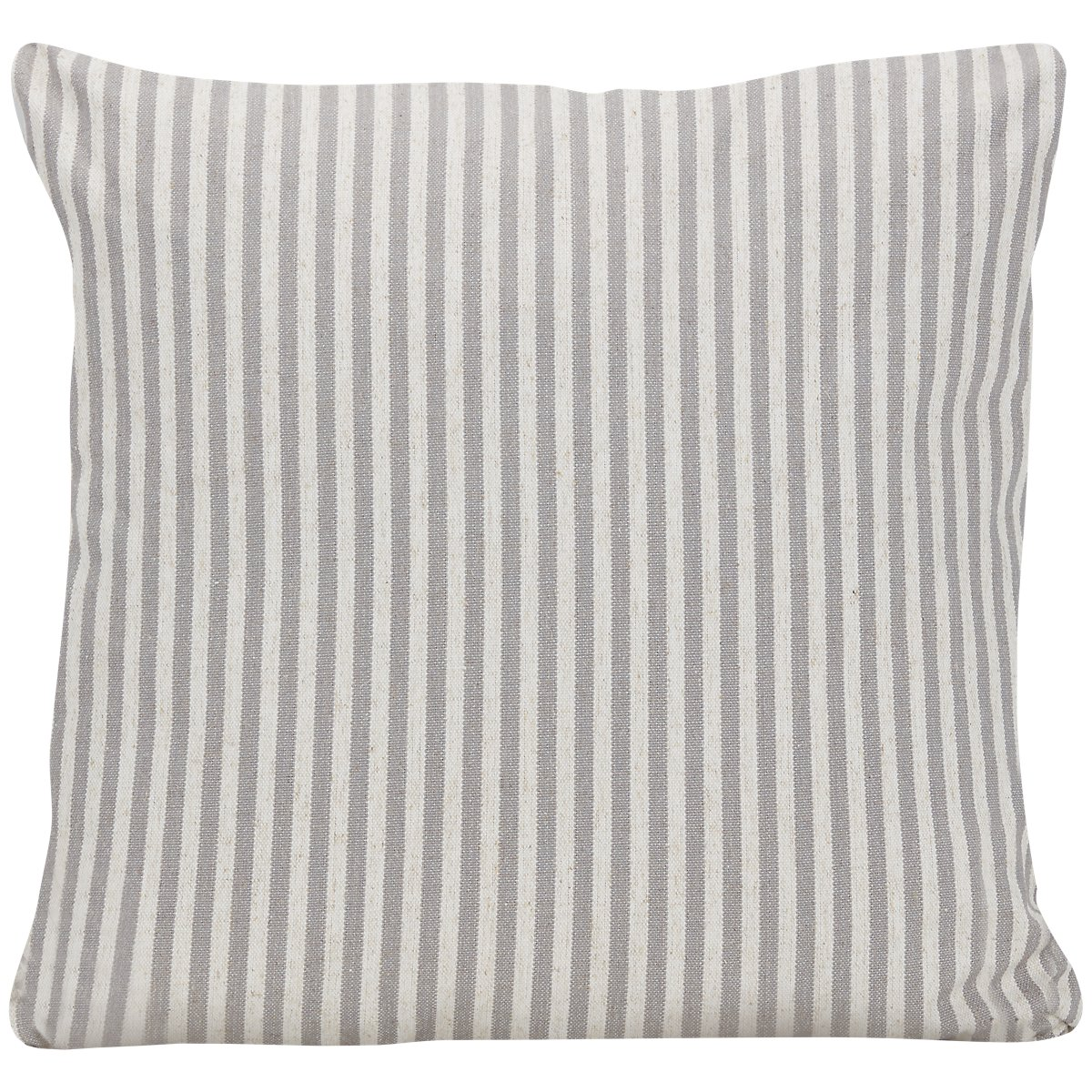 Scout Gray Fabric Stripe Square Accent Pillow