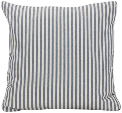 Scout Dark Blue Stripe Square Accent Pillow