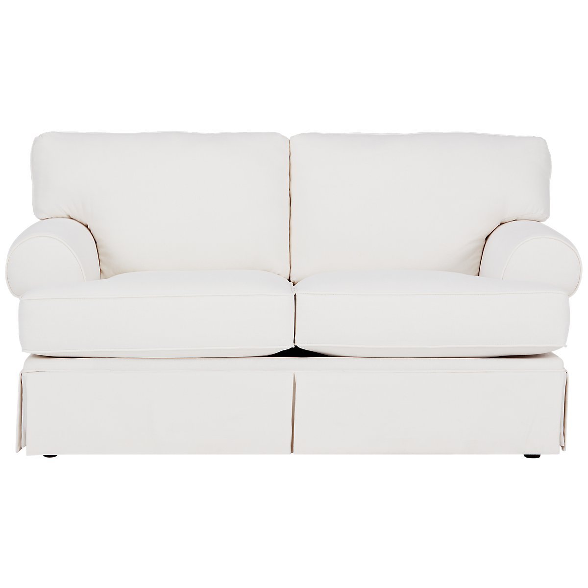 City Furniture Turner White Fabric Loveseat
