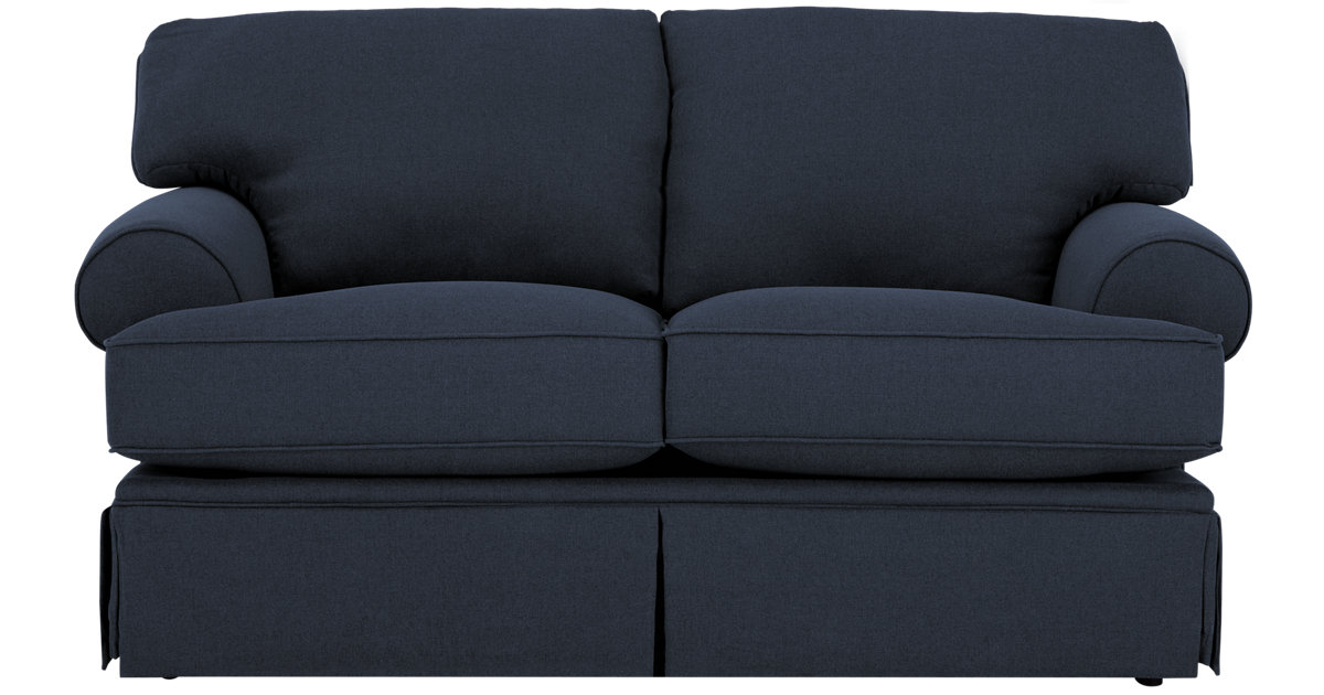 City Furniture Turner Dark Blue Fabric Loveseat