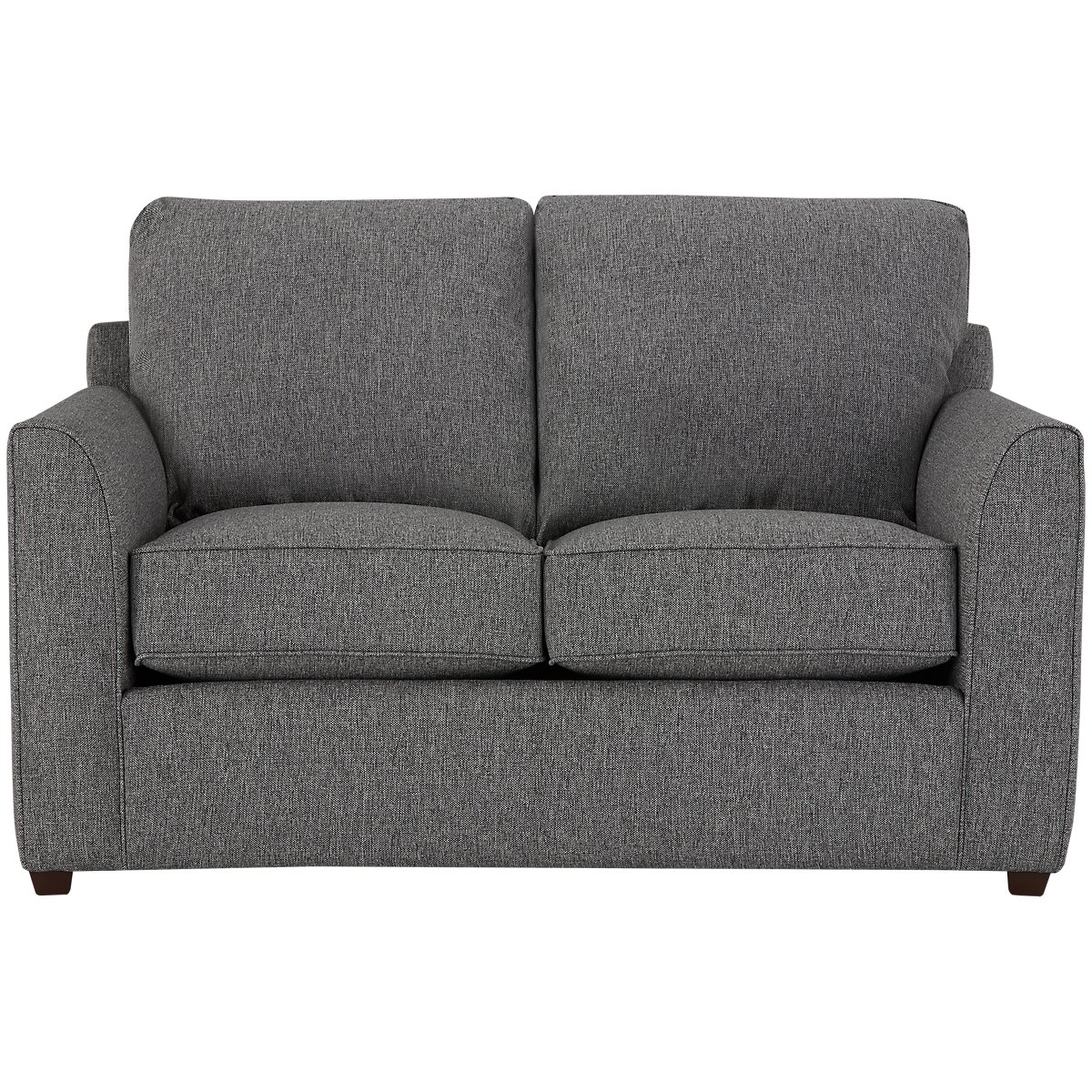 Asheville Gray Fabric Loveseat