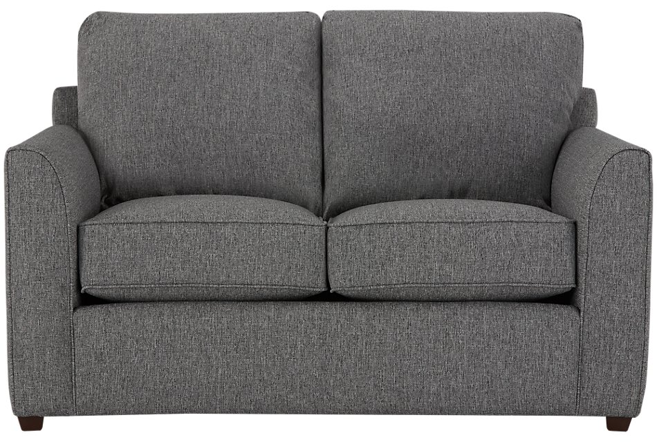 Asheville Gray Fabric Loveseat