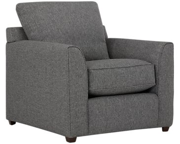 Asheville Gray Fabric Chair