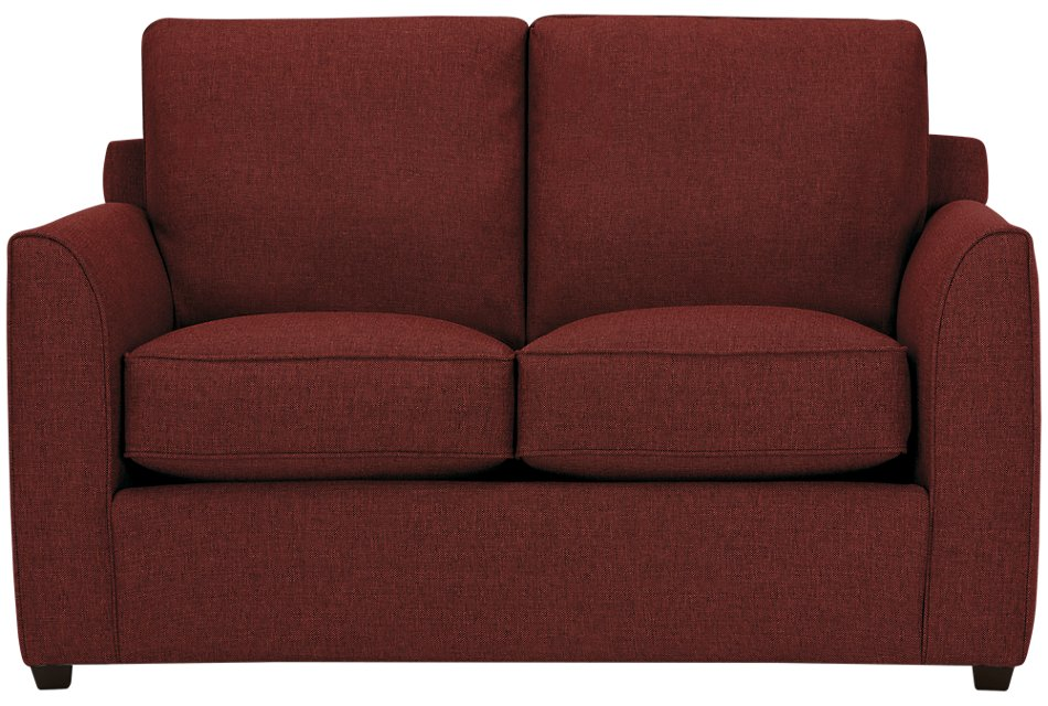 Pleasant Asheville Red Fabric Loveseat Living Room Loveseats Squirreltailoven Fun Painted Chair Ideas Images Squirreltailovenorg