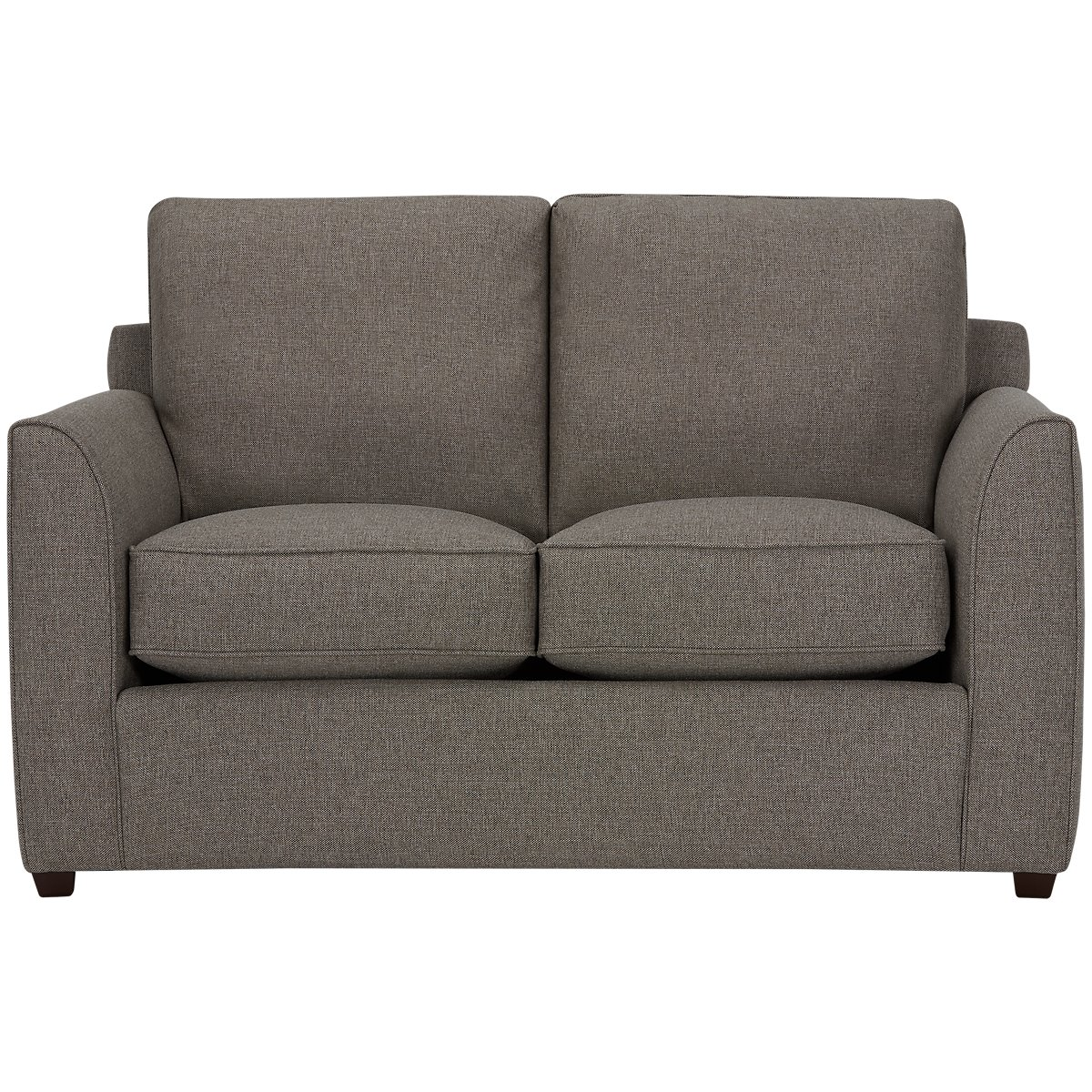Asheville Brown Fabric Loveseat