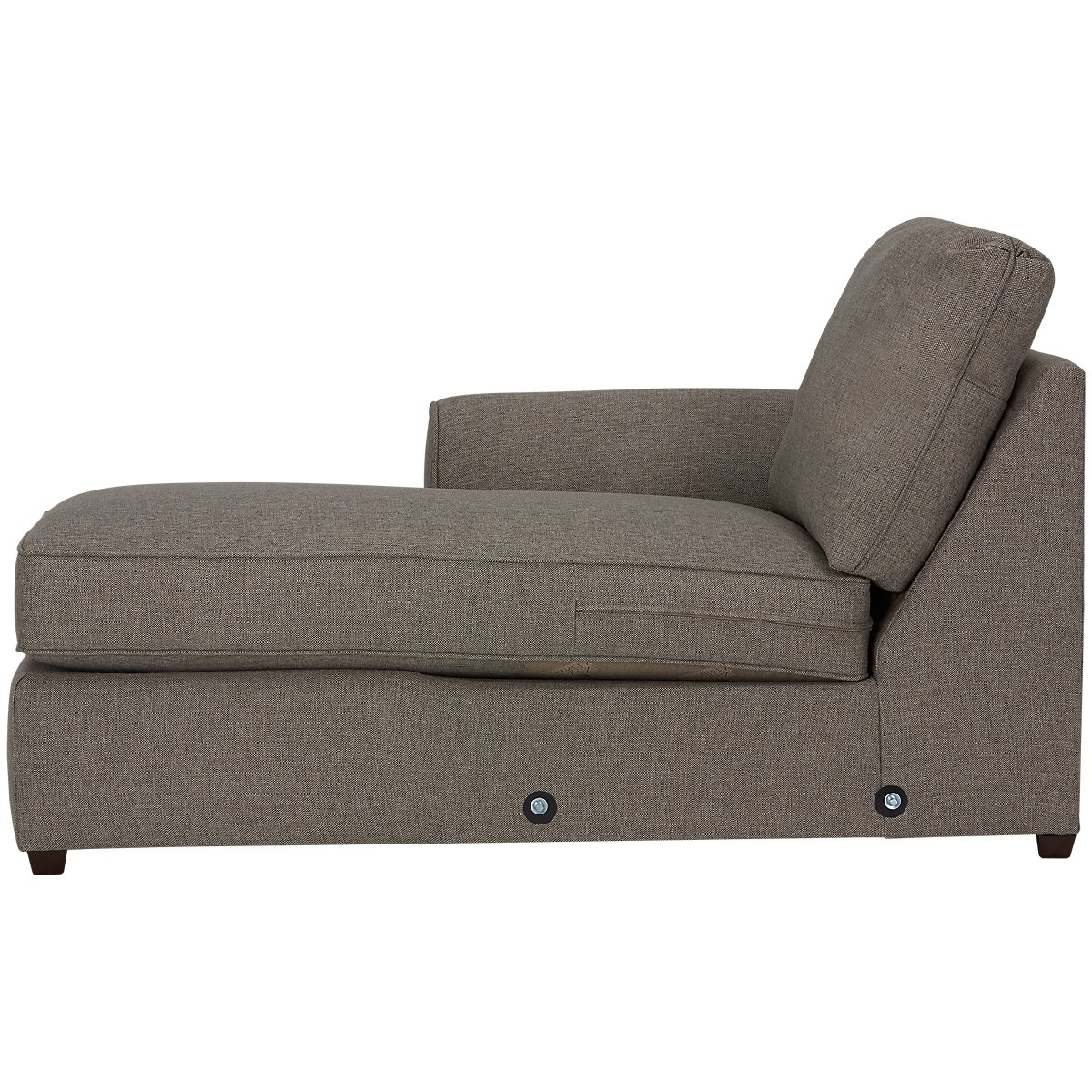 City furniture asheville brown fabric left chaise sectional for Brown sectionals with chaise