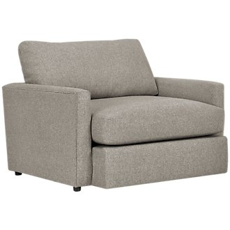Noah Khaki Fabric Chair