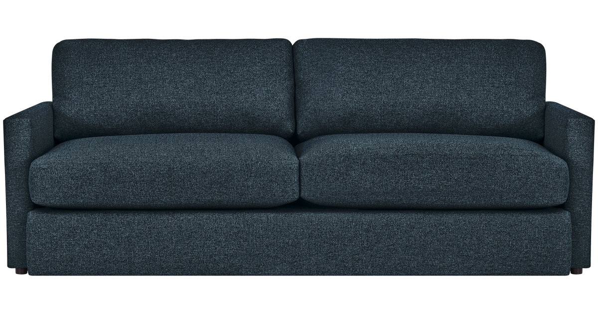 City Furniture Noah Dark Blue Fabric Sofa