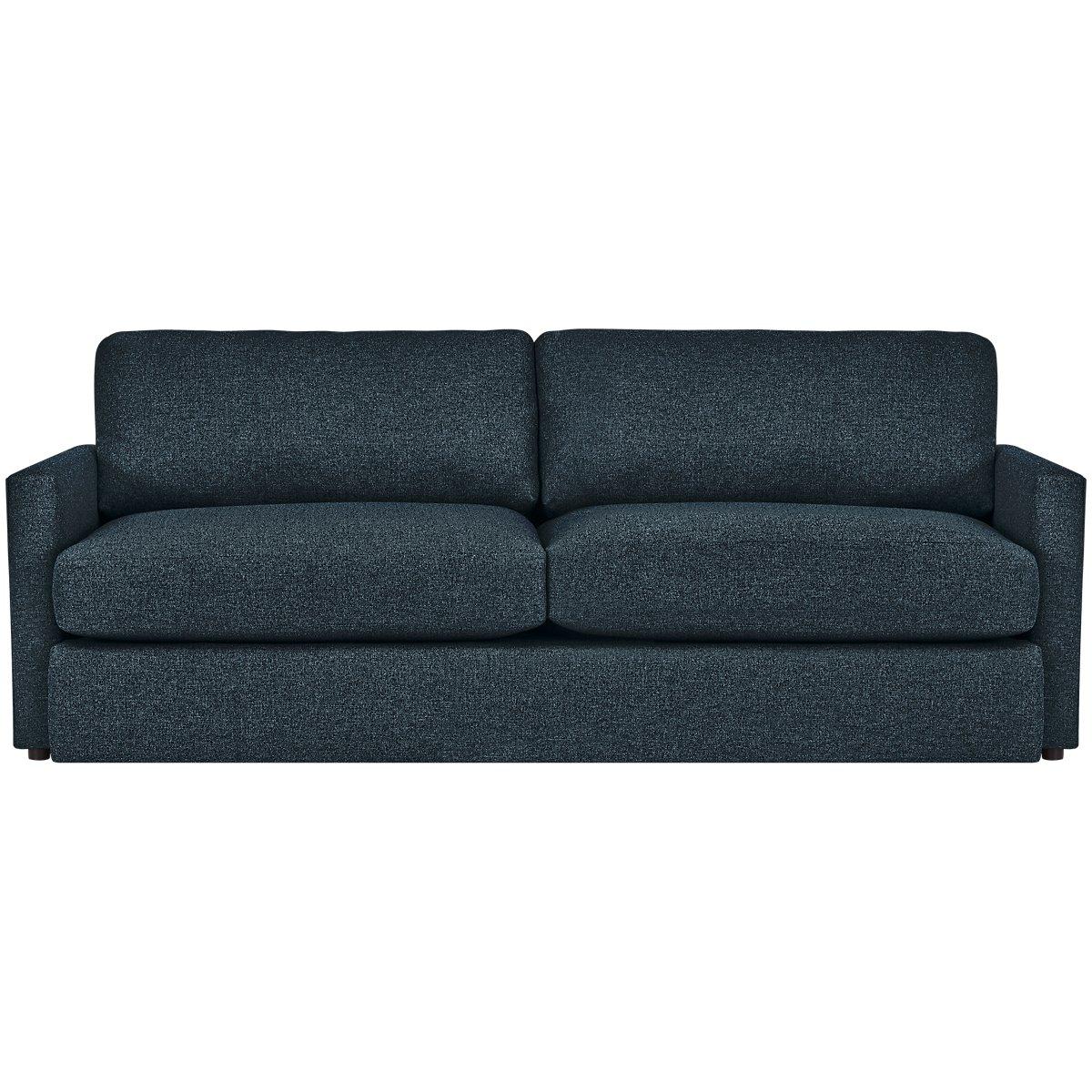 Noah Dark Blue Fabric Sofa